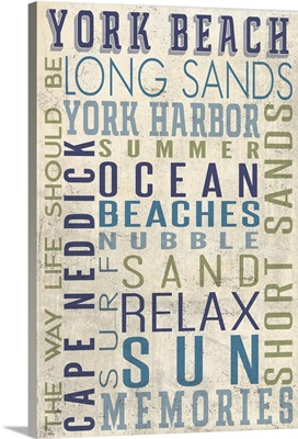 York Beach, Maine, Typography