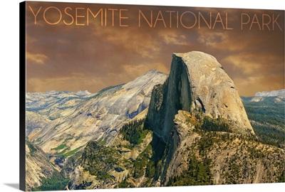 Yosemite National Park, California, Half Dome from Glacier Point