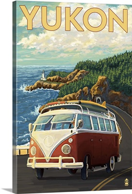 Yukon, Canada - VW Bus Scene: Retro Travel Poster