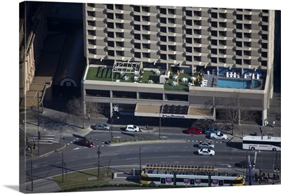 Adelaide Hilton Hotel, Australia - Aerial Photograph