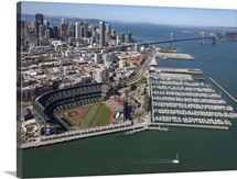 ATAndT Park, Home of The San Francisco Giants, San Francisco - Aerial Photograph