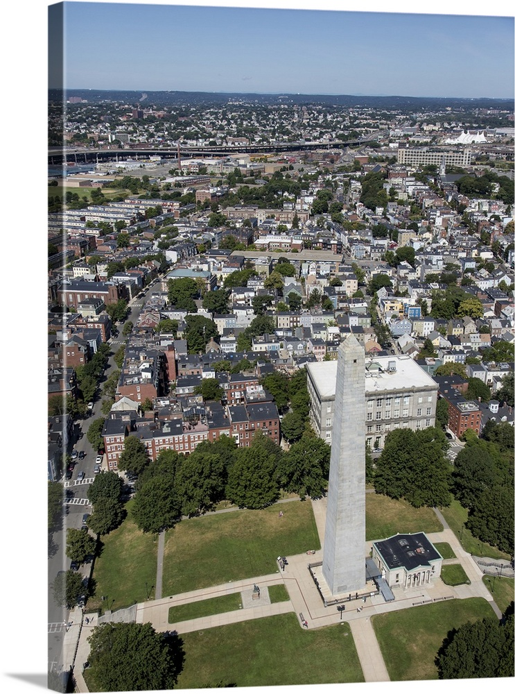 Bunker Hill Monument, Boston, Massachusetts   Aerial Photograph
