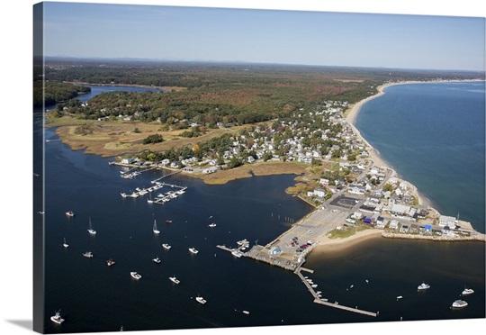 Camp Ellis Beach Saco Maine Usa Aerial Photograph