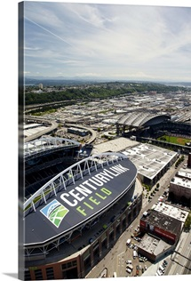Century Link Field, Home of the Seahawks, WA, USA - Aerial Photograph