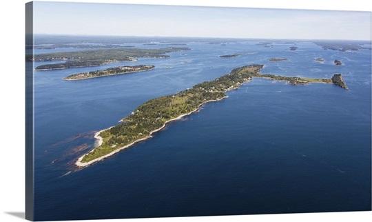 Cliff Island Portland Maine Usa Aerial Photograph Wall Art