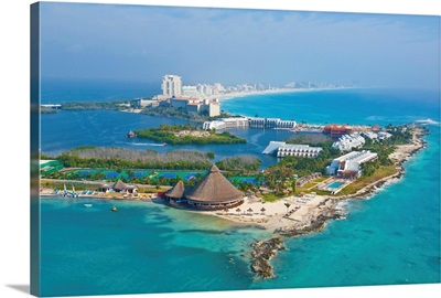 Club Med Hotel,Cancun, Mexico - Aerial Photograph