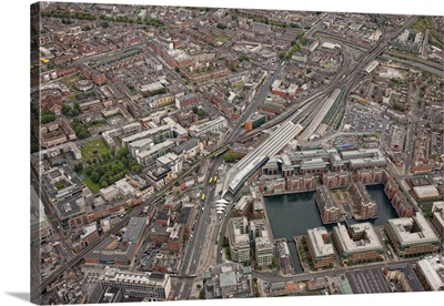 Connolly Street Station, Dun Laoghaire, Ireland - Aerial Photograph