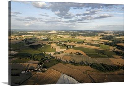 Cropfields, Targe, France - Aerial Photograph