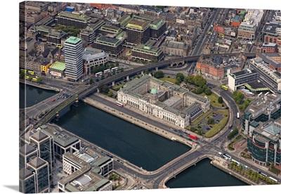 Customs House, Dublin, Ireland - Aerial Photograph