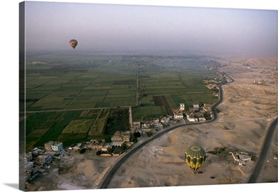 Delimitation Between The Desert And Cultivated fields, Gurna - Aerial Photograph