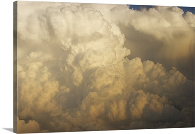 Developing Squall Line Thunderstorm Over the American Midwest - Aerial Photograph