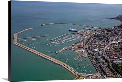 Dun Laoghaire Harbour, Northern Ireland, UK - Aerial Photograph