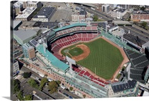 Fenway Park, Home of the Boston Red Sox, Boston, MA, USA - Aerial Photograph