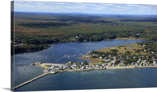 Ferry Beach Saco Maine Usa Aerial Photography