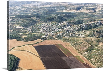 Kfar Zalfa, Gilboa, Israel - Aerial Photograph