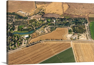 Kibbutz Nir David, Beit She'an Valley, Israel - Aerial Photograph