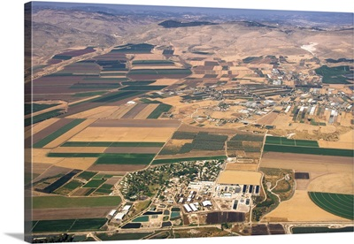 Kibbutz Tirat Zvi, Beit She'an Valley, Israel - Aerial Photograph