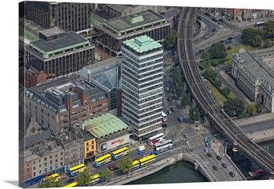 Liberty Hall, Dublin, Ireland - Aerial Photograph