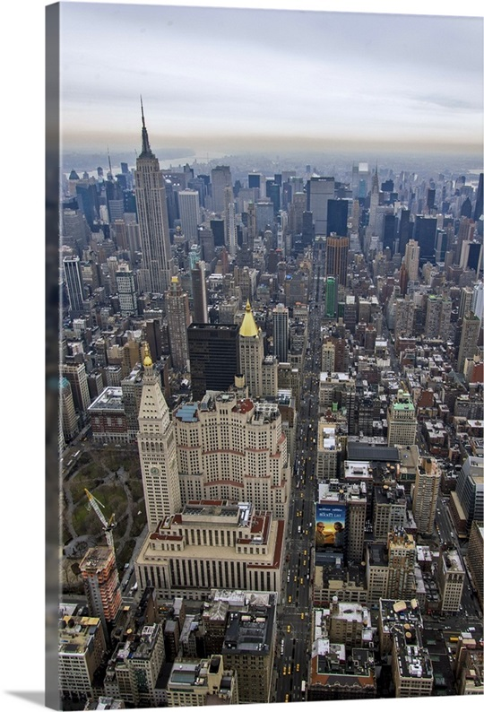 New York City Canvas Wall Art madison square park, new york city, usa - aerial photograph wall