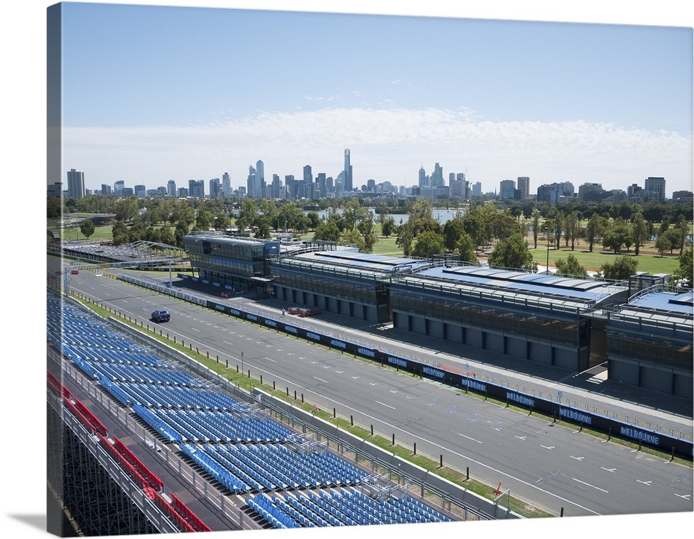 Melbourne Grand Prix Circuit, Albert Park, Melbourne, Canada - Aerial  Photograph