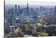 Melbourne Skyline From The South, Melbourne, Australia - Aerial Photograph