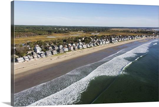 Moody Beach Wells Maine Usa Aerial Photograph