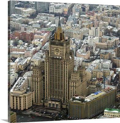 Moscow, Russia. Building of the Ministry of Foreign Affairs of Russia