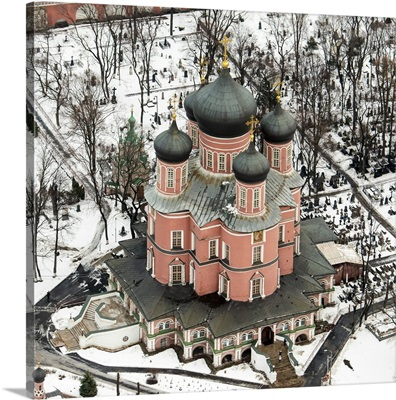 Moscow, Russia. Cathedral of the Donskoy Monastery