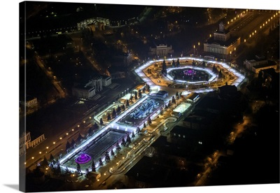 Moscow, Russia. Central avenue of VDNKh (All-Russia Exhibition Centre