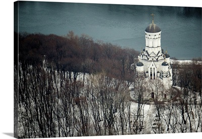 Moscow, Russia. Church of the Beheading of St. John the Baptist