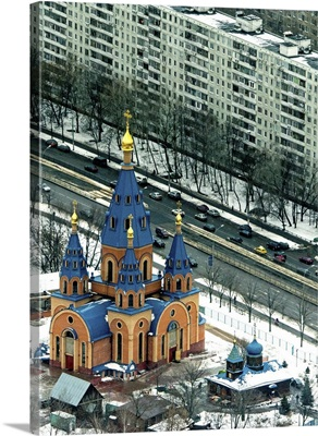 Moscow, Russia. Church of the Reigning Icon of the Mother of God
