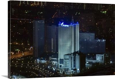 Moscow, Russia. 'Gazprom' main building on Namyotkin street.