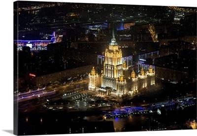 Moscow, Russia. Hotel 'Ukraina' (now called 'Radisson Royal Hotel