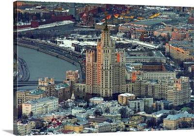 Moscow, Russia. Kotelnicheskaya Embankment Building