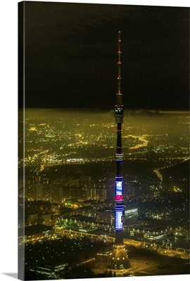 Moscow, Russia. Ostankino television and radio tower.