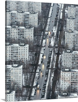Moscow, Russia. Residential buildings on the 3rd Dorozhny Proezd