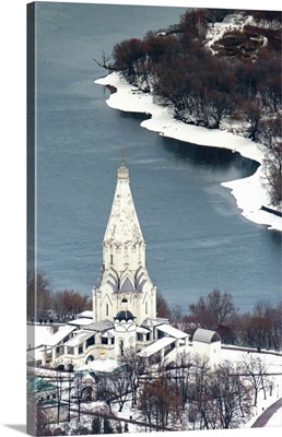 Moscow, Russia. The Church of the Ascension in Kolomenskoye.