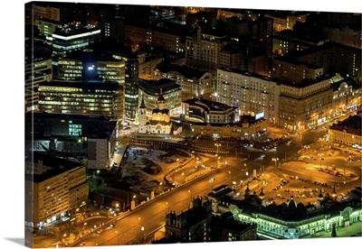 Moscow, Russia. 'Tverskaya Zastava' Square.