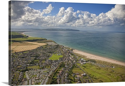 Mussenden Temple, Ireland  - Aerial Photograph