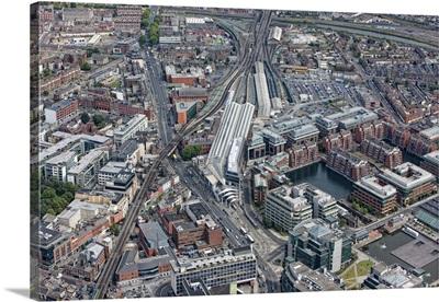 O Connell Street, Dublin, Ireland - Aerial Photograph