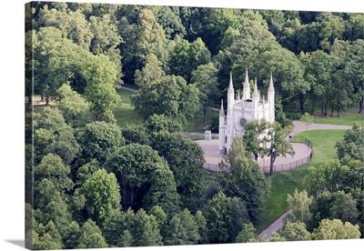 Park in Tsarskoye Selo (Pushkin, 24 km (15 mi) south of Saint Petersburg, Russia