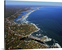 Perkins Cove, Ogunquit Beach, Ogunquit, Maine, USA - Aerial Photograph