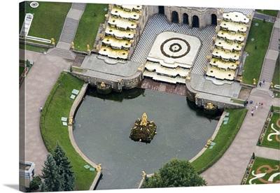 """Peterhof (Petergof, originally Peterhof, Dutch and German for """"Peter's Court"""")"""