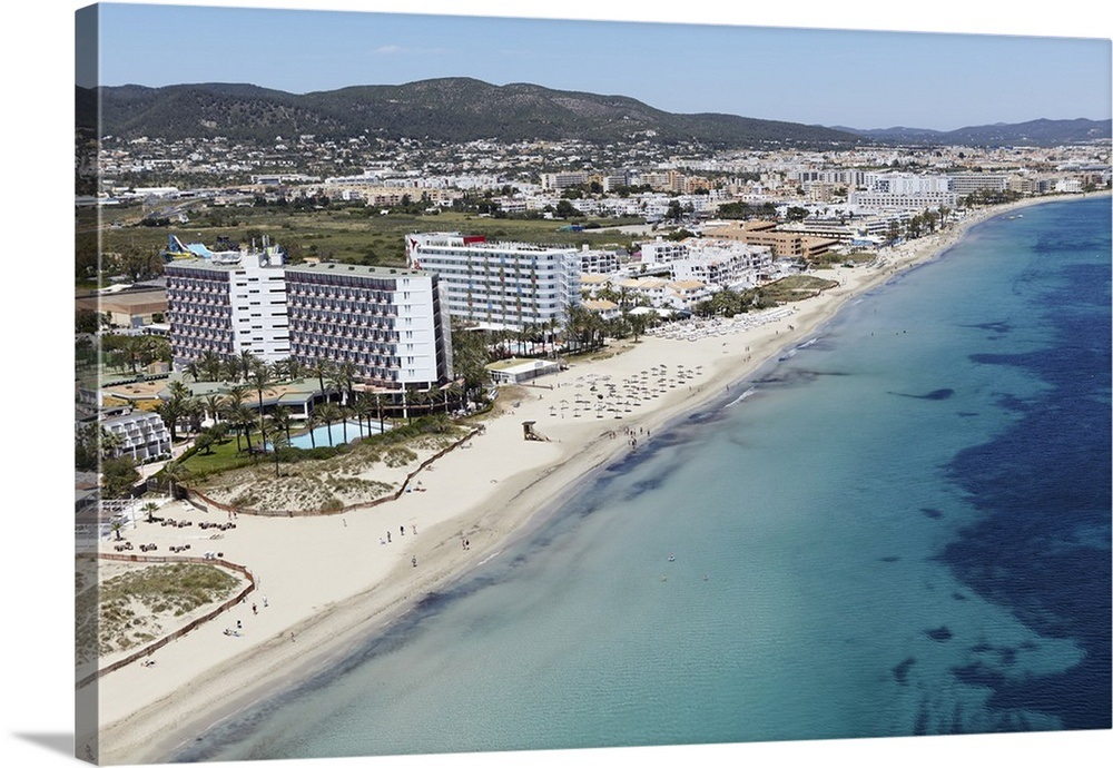 Playa den Bossa, Ibiza, Spain - Aerial Photograph