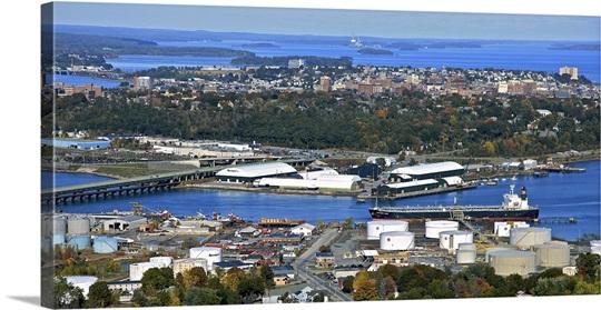 Port Of Portland South Portland Maine Usa Aerial Photograph