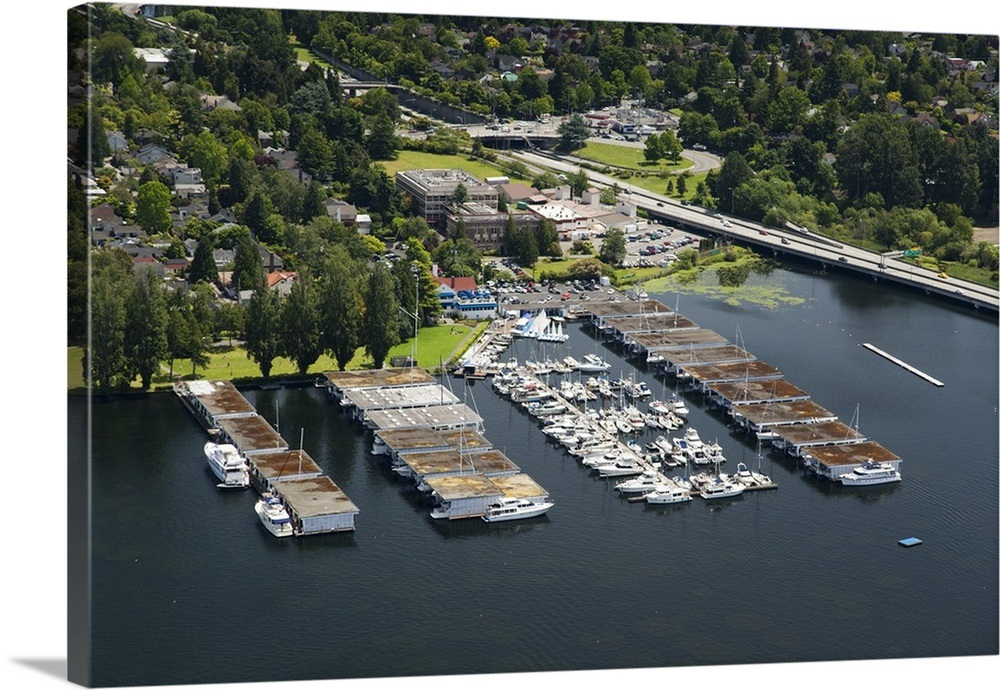 Portage Bay, Seattle Yacht Club, Seattle, WA State, USA - Aerial Photograph