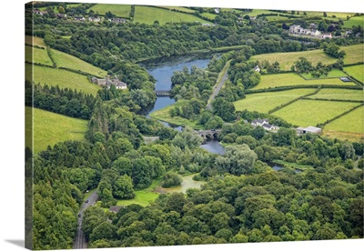 River Quoile, Downpatrick, Ireland - Aerial Photograph