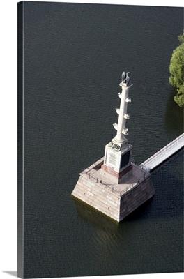 Russia. Chesma Column on Bolshoi Prud (Big Pond) in Catherine's Park