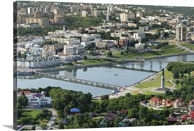 Russia, Chuvash Republic. Cheboksary. 'Mother Patroness' monument