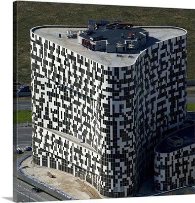 Russia, Moscow. Building on Khodynka Field.